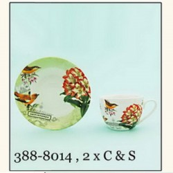 CUPS AND SAUCERS, SET 2+2