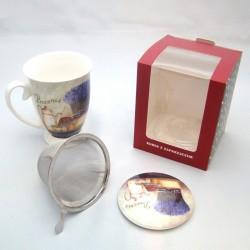 MUG WITH TEA INFUSER BOX-48