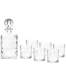 DECANTER AND TUMBLERS SET 1+6