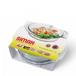 ROUND CASSEROLE WITH LID (2,5+1,2 L)