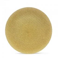 GLITTER GOLD PLATE 33 CM