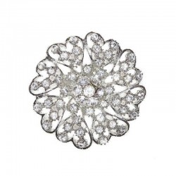 BROOCH TO THE SILVER MAGNET WITH CRYSTALS