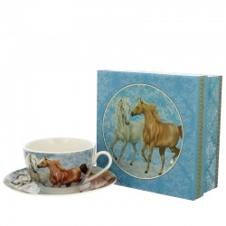 CUP 250 ML WITH SAUCER HORSES