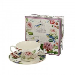 CUP 250 ML WITH SAUCER LUNA