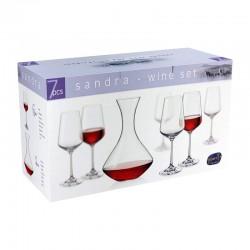 SANDRA VINO 1 + 6 (DECANTER + VINO GLASS 350 ML)