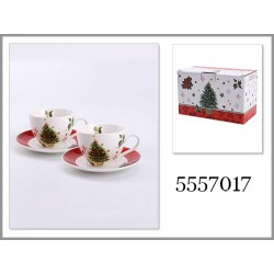 CUPS 220 ML WITH SAUCERS, 2 PCS