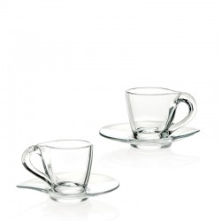 HAPPY ESPRESSO CUP WITH SAUCER, SET 6