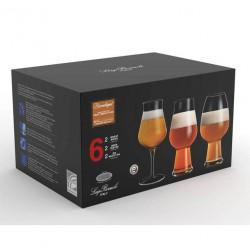 Birrateque Beer glass Set 6 pcs
