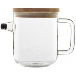 Jug with a lid anti-drip system