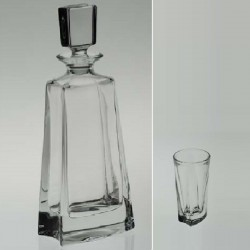 FLAT (Katherine) Liqueur SET 1 + 6 (DECANTER HIGH)